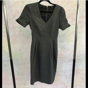 J Crew the 120's rolled sleeve dress